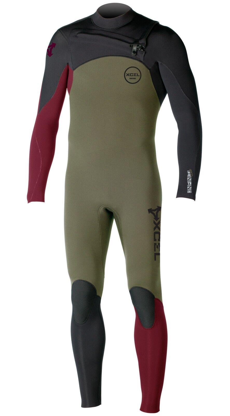 XCEL Men's 3 2 INFINITI COMP X Zip Wetsuit - SBR - Large Tall - NWT