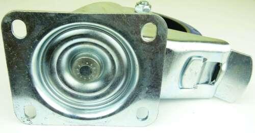 12 St 160 mm SL Lenkrollen Feststeller Blue Wheel Transportrollen Bremse Rollen