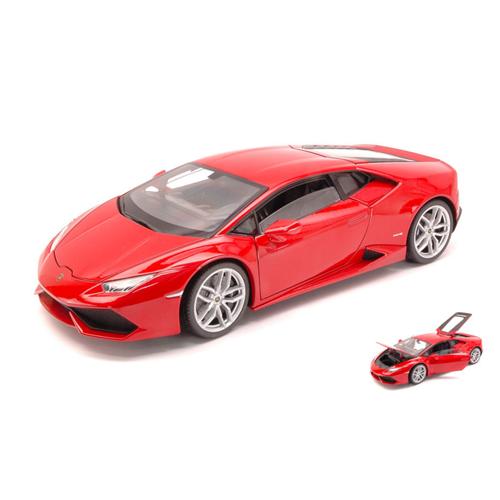LAMBORGHINI HURACAN LP 610-4 2014 METALLIC rosso 1:18 Welly Auto Stradali