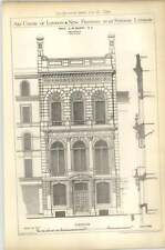 1879 Art Union Of London, New Premises, 112 Strand, London Elevation