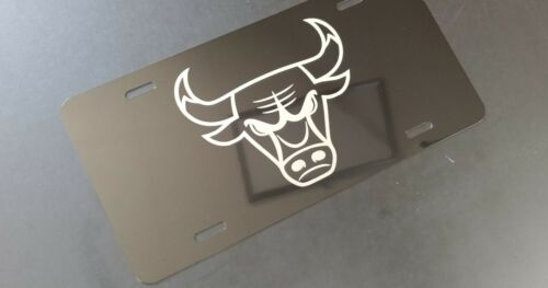 Chicago Bulls windy city Aluminum License Plate laser etched car front tag sign