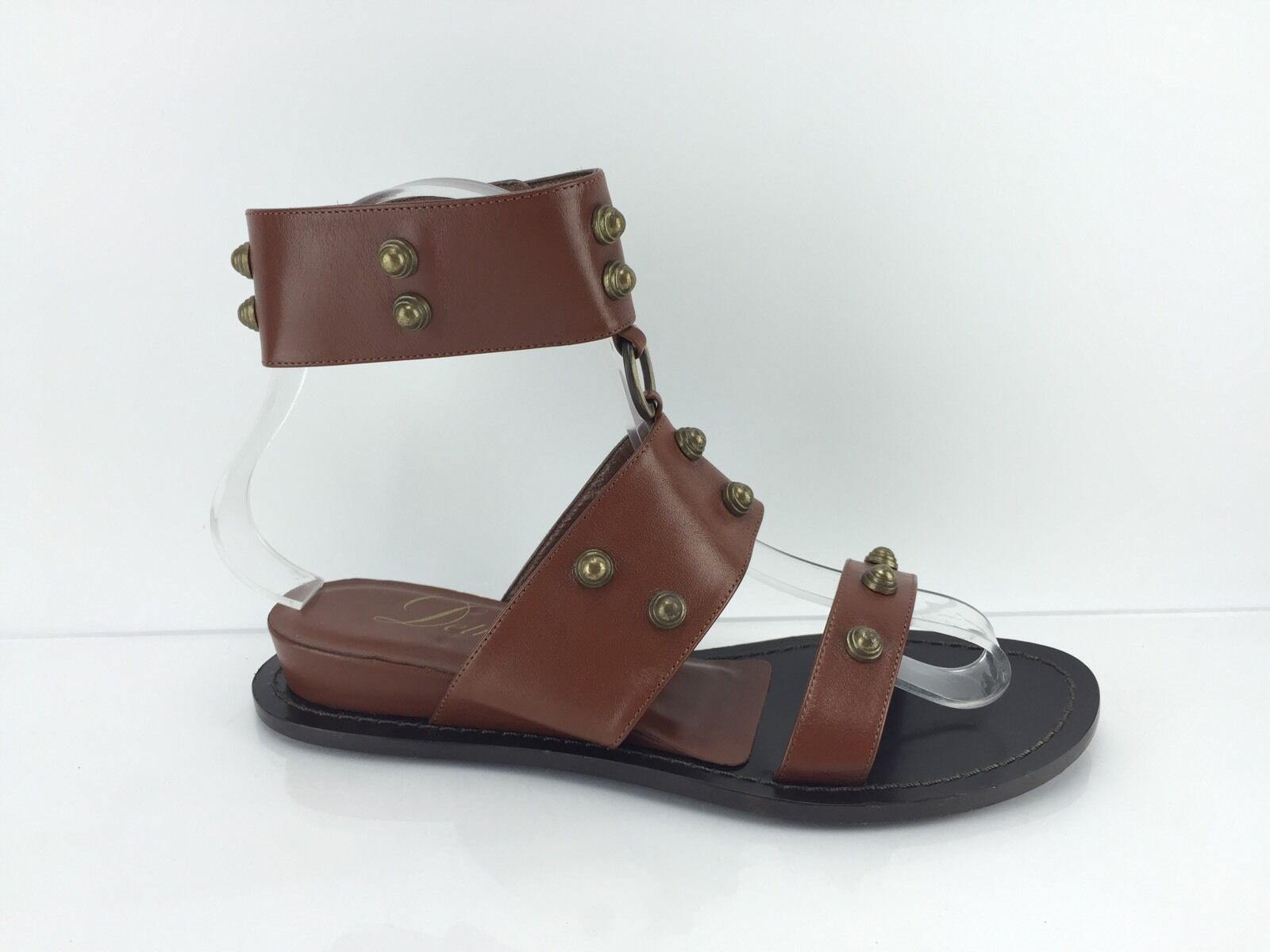 Delman Women's Brown Studded Sandals 5.5 B B B 4d59e8