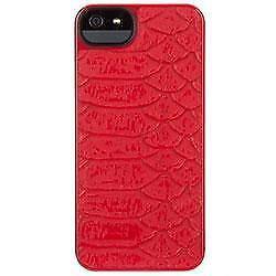 Griffin-GB35526-Moxy-Texture-coque-dure-de-protection-iPhone-5-Carry-Case-New-Red
