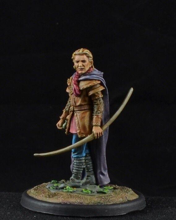 Målad manlig Ranger med Long Bow från Mörka Svärdet Miniatur, bågskytt D &D