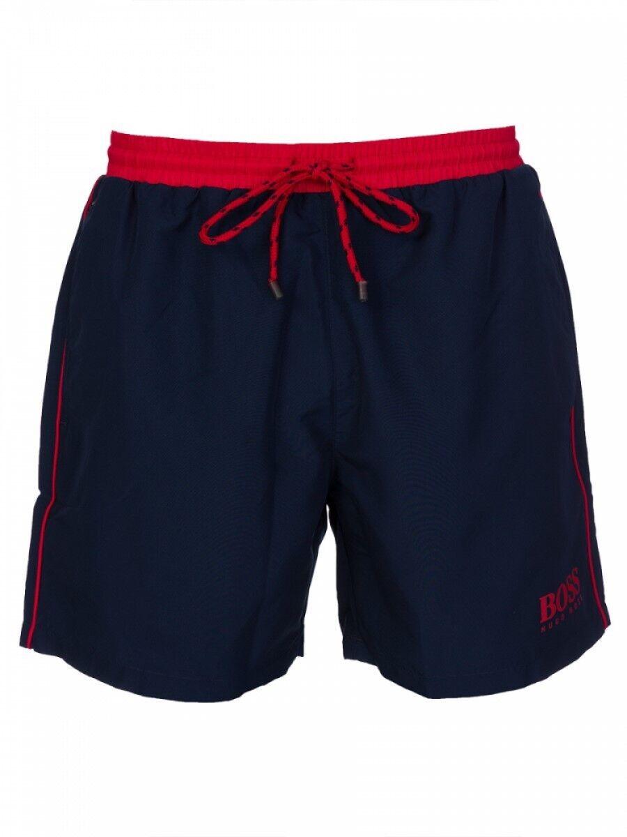 HUGO BOSS Men's STARFISH Swim Shorts in Navy bluee red BNWT RRP  Size Medium