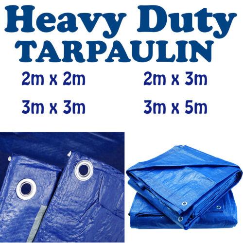 Tarpaulin Waterproof Strong Large Cover Gardening Ground Sheet Tarp with Eyelets