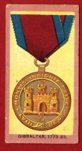 WILLS-MEDALS-1906-Single-card-No-5-GIBRALTAR-1779-1783
