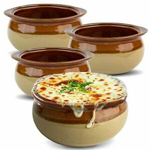 Stock Your Home French Onion Soup Crocks (4 Count) 10oz Ceramic Porcelain