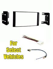 Double Din Car Stereo Radio Dash Install Mount Trim Kit Combo for some Versa