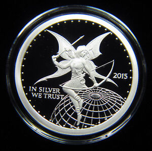 2015-SILVERBUG-ARCHER-1-OZ-SILVER-PROOF-ROUND-LIMITED-MINTAGE-OF-ONLY-10-000