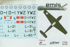 1/72 Lift Here 708-LH Emils 7 Options for Royal Yugoslav Me-109's Reprints!