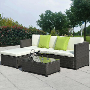 Image Is Loading 5pc Outdoor Patio Sofa Set Sectional Furniture Pe