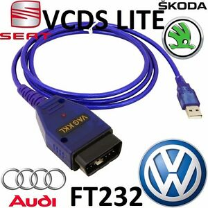 Details about VW AUDI SEAT SKODA OBD2 diagnostic scanner OBD V1 5 VAG COM  USB VCDS LITE Cable