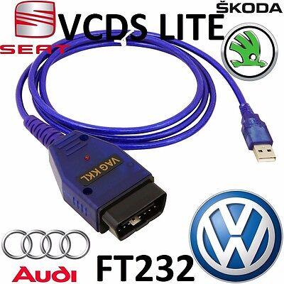 VW AUDI SEAT SKODA OBD2 diagnostic scanner OBD V1 5 VAG COM USB VCDS LITE  Cable | eBay