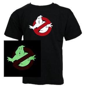 Courageux Enfants - Ghostbusters Brille Dans Le Noir Film Classique Garçons T-shirt Beau Travail