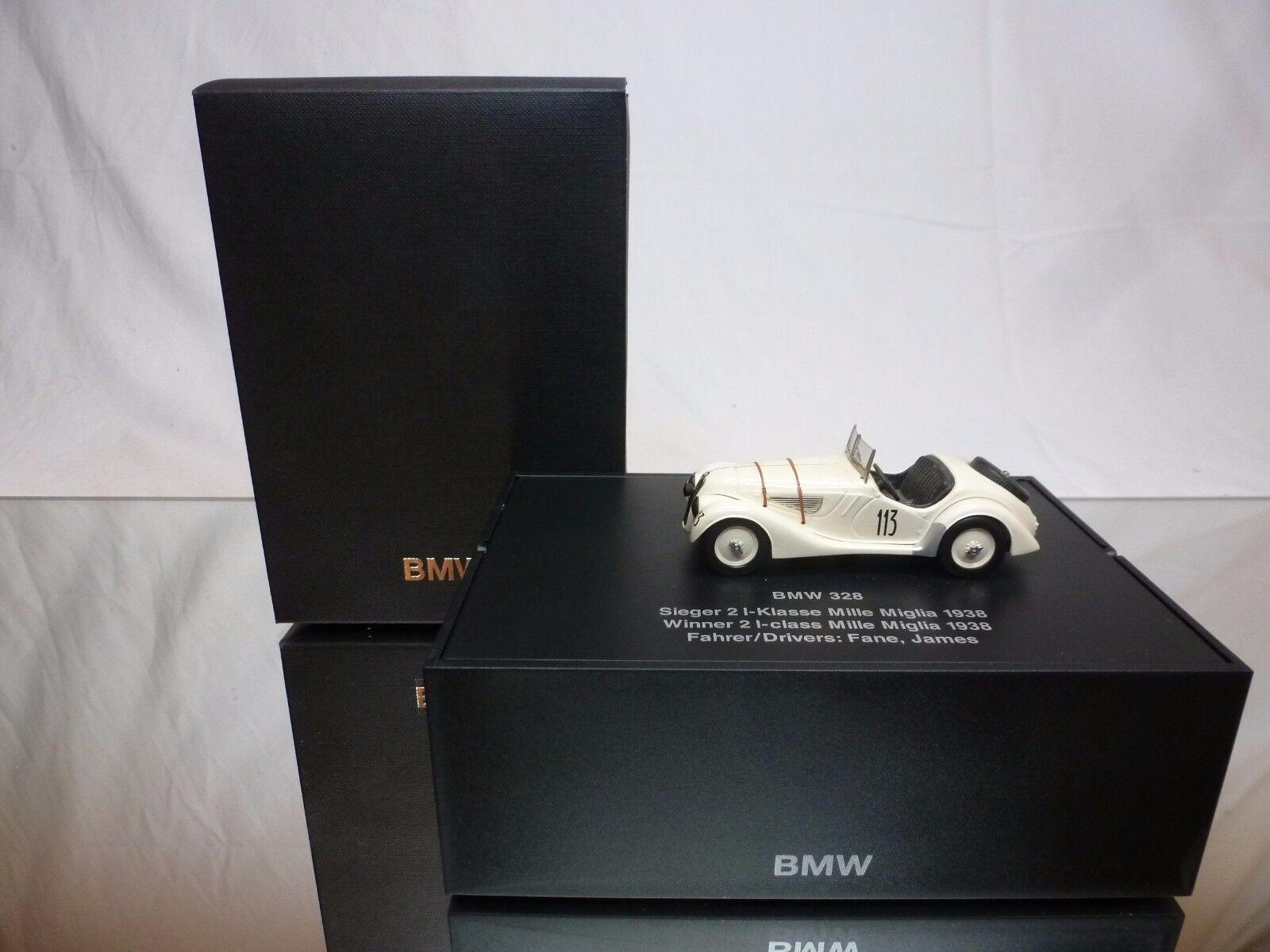 SCHUCO BMW 328 WINNER 2L CLASS MILLE MIGLIA 1938 - 1:43 EXCELLENT IN DEALER BOX