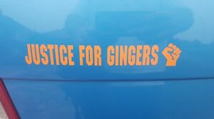 Justice-For-Gingers-funny-car-sticker-decal-red-head-VW-Mini-FIAT-Ford-Vauxhall