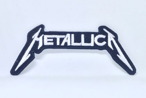 Metallica American Heavy Metal Band Iron on Sew on Embroidered Patch #115 White