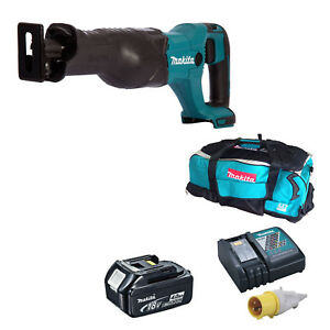 MAKITA-18V-DJR186-RECIPROCATING-SAW-1-BL1840-BATTERY-110v-DC18RC-DK18027-BAG