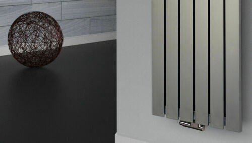 120x47cm 799 Watt Edelstahloptik Badheizkörper Peking 2 Design Heizkörper