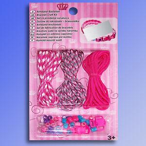 Armband-Bastel-Set-fuer-Kinder-Schnuere-Perlen-Verschluesse-Schmuckband-Schmuck