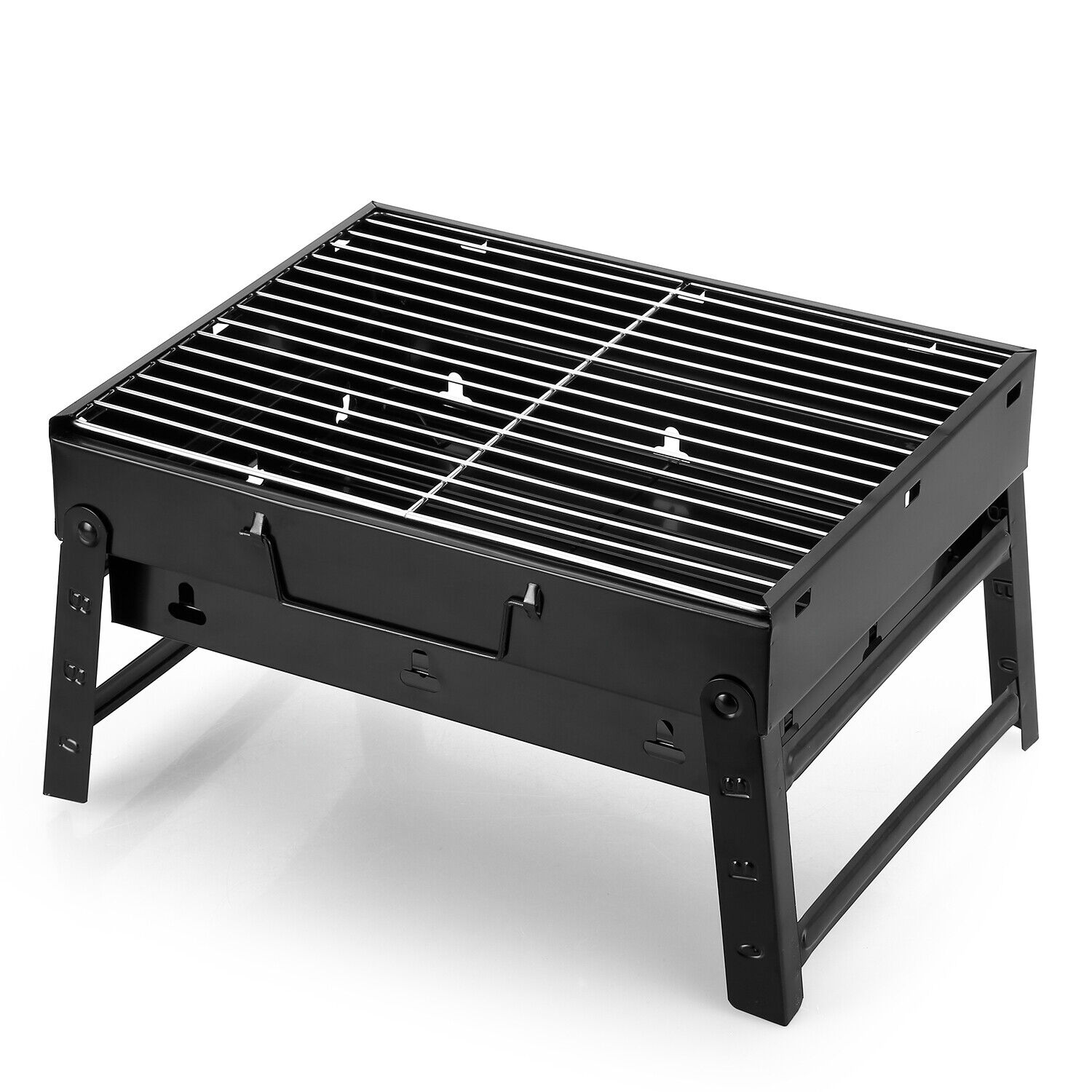 BBQ Faltbar Holzkohlegrill Klappgrill Tischgrill Outdoor Camping Barbecue Grill
