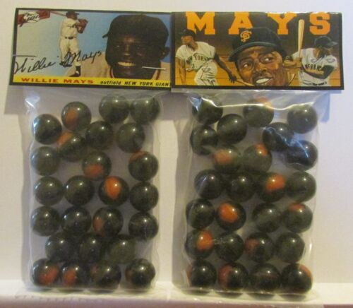 2 Bags Of Willie Mays Baseball Great Promo Marbles