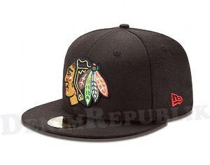 5ff47495d New Era 5950 CHICAGO BLACKHAWKS Team Cap National Hockey League NHL ...