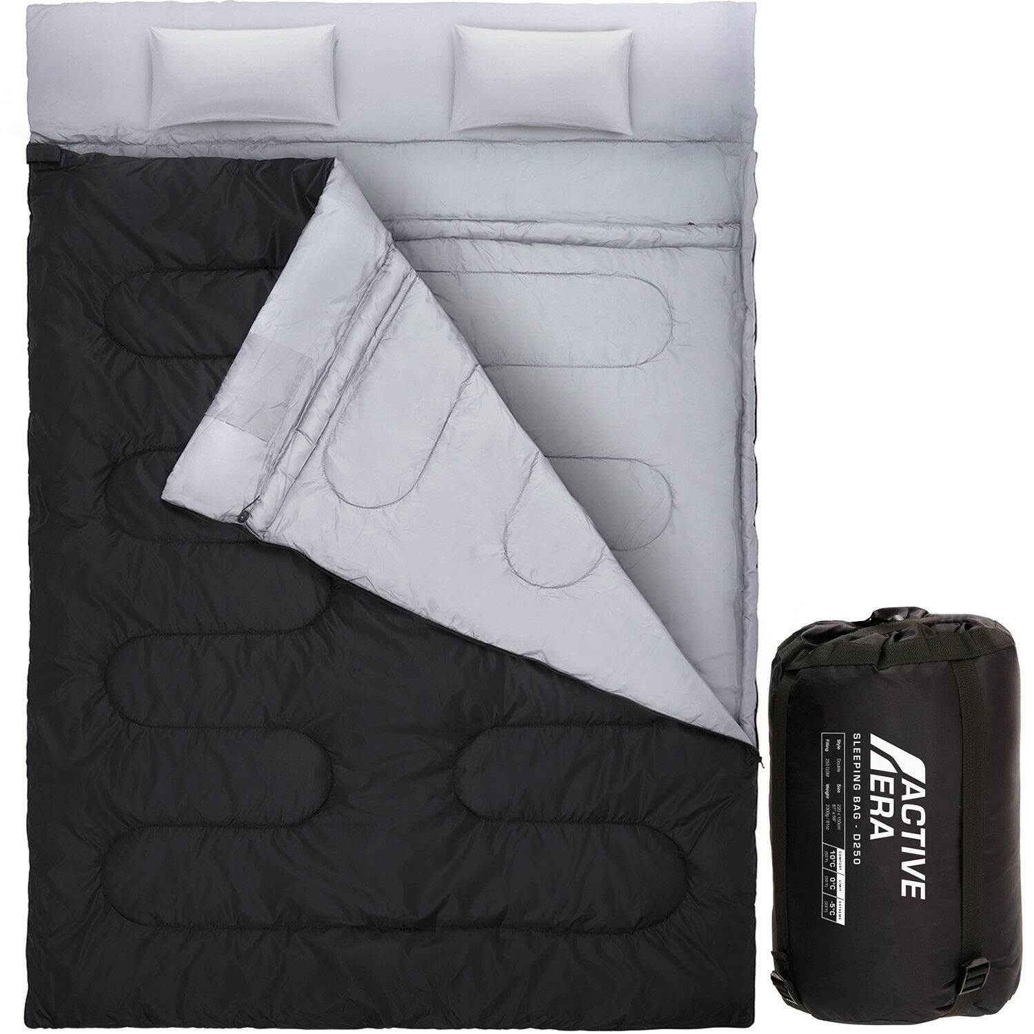 Double Sleeping Bag - Extra Large Queen  Size - Congreens to 2 Singles - 3 Season  top brand