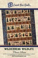 Wilderness Wildlife Quilt Pattern, Hand Embroidery From Lunch Box Quilts