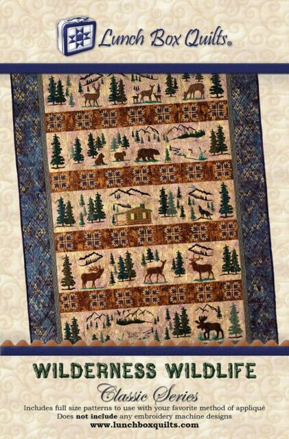 Wilderness Wildlife Quilt Pattern Hand Embroidery From Lunch Box