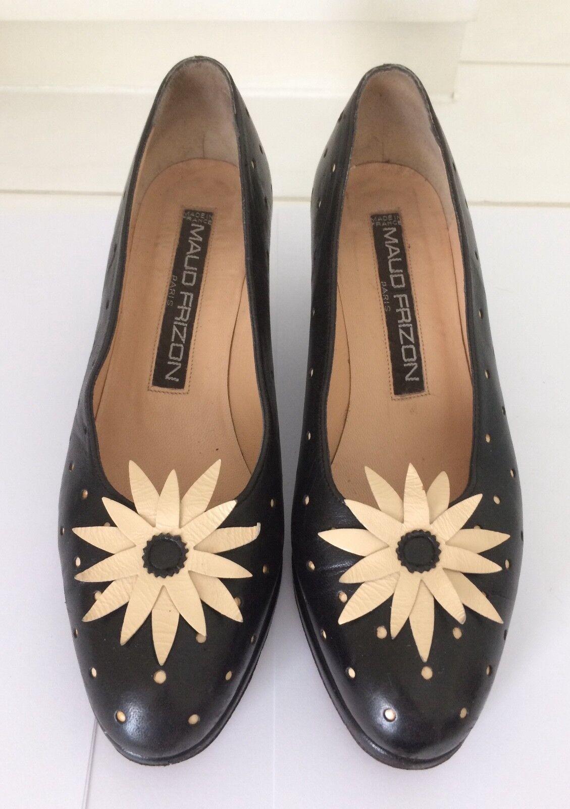 Maud Frizon Black Pumps, Size 37,5 (UK 4,5)