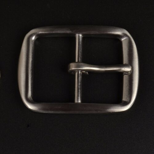 Stainless Steel Pin Buckle for Men Leather Belt Spare Replacement Snap On 40mm