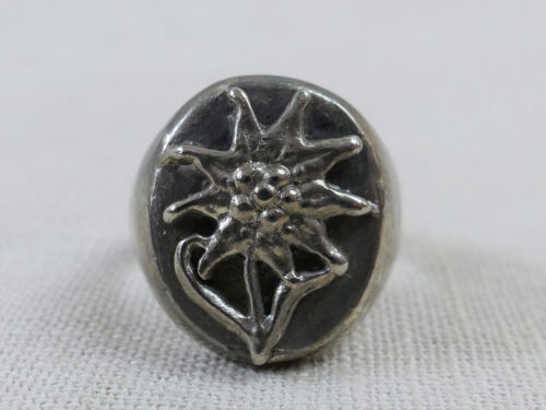9.5 Gebirgsjäger Traditions Ring mit Edelweiss 19mm
