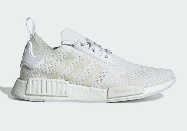 buy popular 4709b 60f48 Men's Adidas NMD R_1 PK Primeknit OG Knit Triple White Fashion Casual G54634