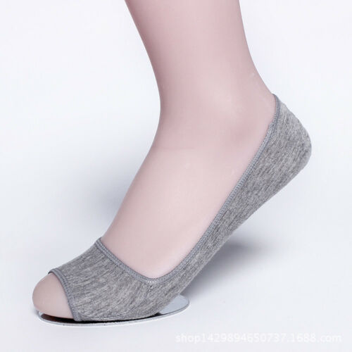 Fashion Ladies Secret Socks Cotton Blend Open Toe Footsie Hidden Sock Slippers