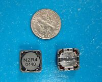 E&e 2.4uh 8a Shielded Inductor Siscdrh127n-2r4t, 12x12x8mm, Qty. 10