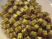 Vintage Brass Beads With Rings