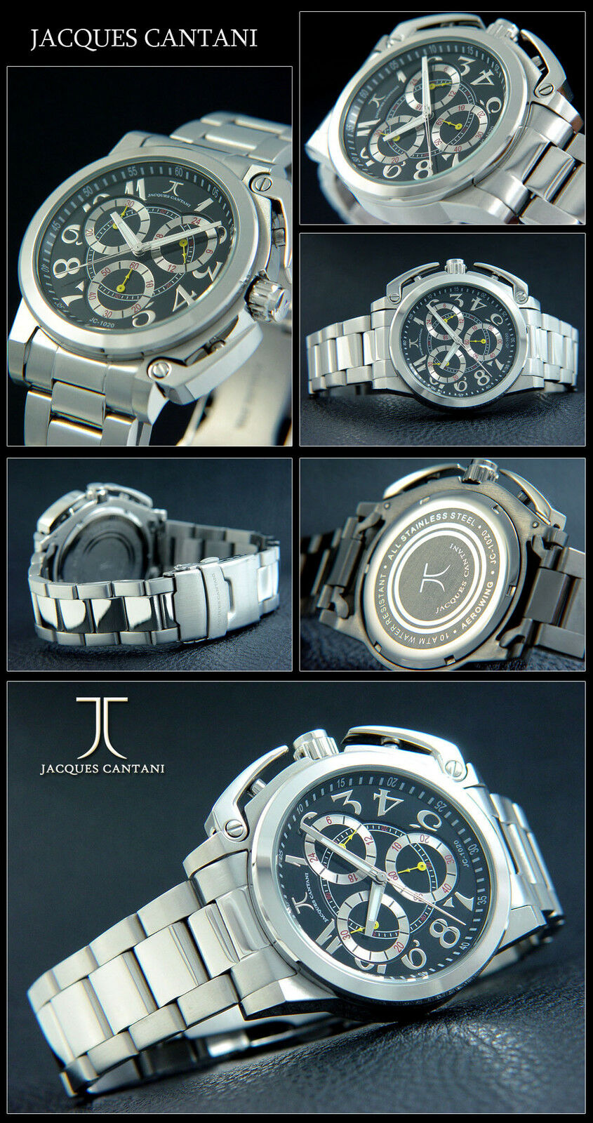 Luxury Designer Aerowing Chronograph Watch Special Form Crown Cover