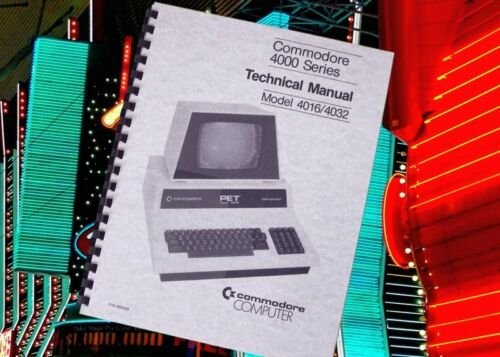 COMMODORE Series 4000 Computer TECHNICAL Service Manual With Schematics