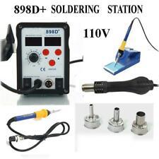 898d 2 In 1 Electric Smd Desolder Soldering Station Hot Air Gun W 11 Tips