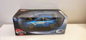Hot-Wheels-1-18-scale-Diecast-29228-Ford-Focus-Tuning-version-Blue