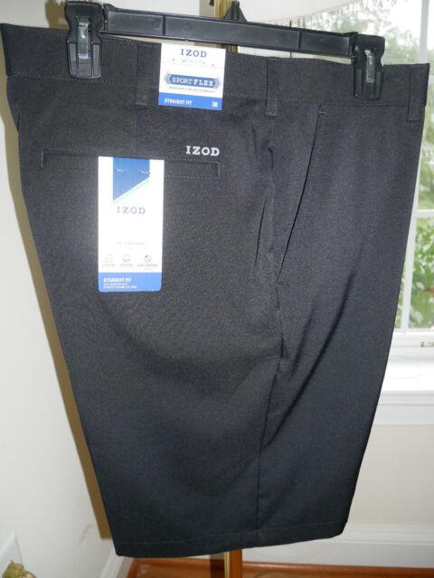 Izod Golf Shorts Straight Fit Men's 32 - 42 NEW Peacoat Black Khaki Gray