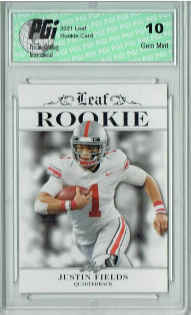 Justin Fields 2021 Leaf Exclusive #1 Only 5000 Made Rookie Card PGI 10