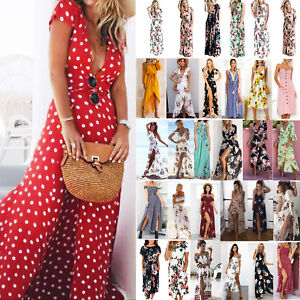 Womens-Boho-Floral-Long-Maxi-Dress-Summer-Beach-Evening-Party-Cocktail-Sundress