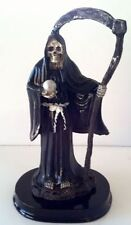 5 Inch Statue La Santa Muerte Negra Black Holy Death Grim Reaper Skull Skeleton