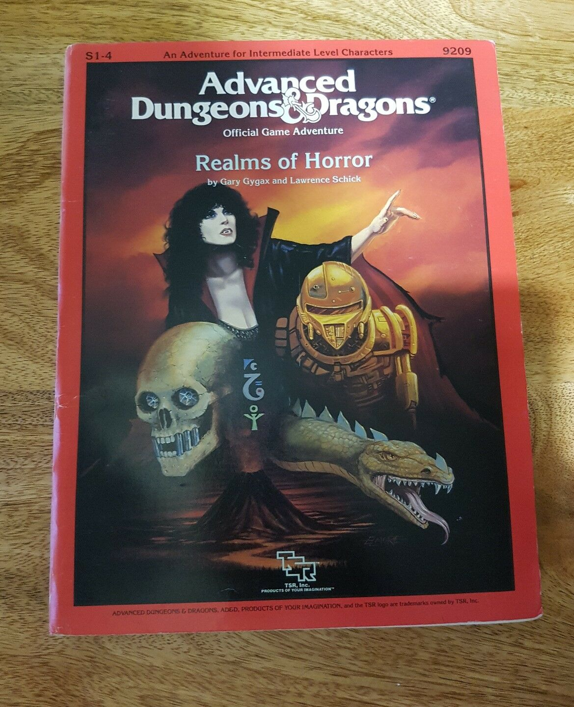 Rare Advanced Dungeons & Dragons Official Game Adventure  Realms of Horror S1-4