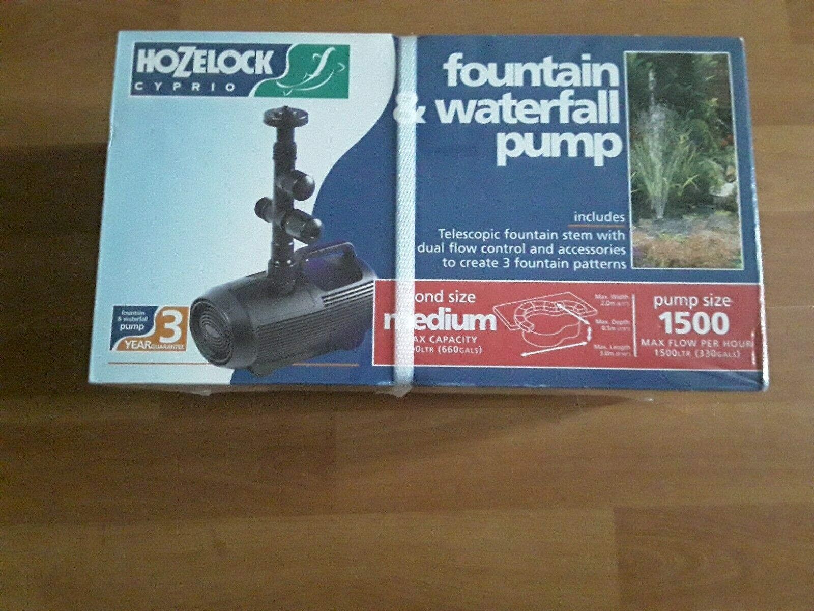 !!! BRAND NEW AND SEALED NOZELOCK CYPRIO FOUNTAIN AND WATERFALL PUMP 1500 !!!