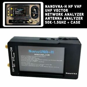 NanoVNA-H-HF-VHF-UHF-Vector-Network-Analyzer-Antenna-Analyzer-50K-1-5GHz-amp-Case