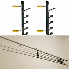 2 Fishing Rod & Reel Storage Racks 8 Rods Wallceiling